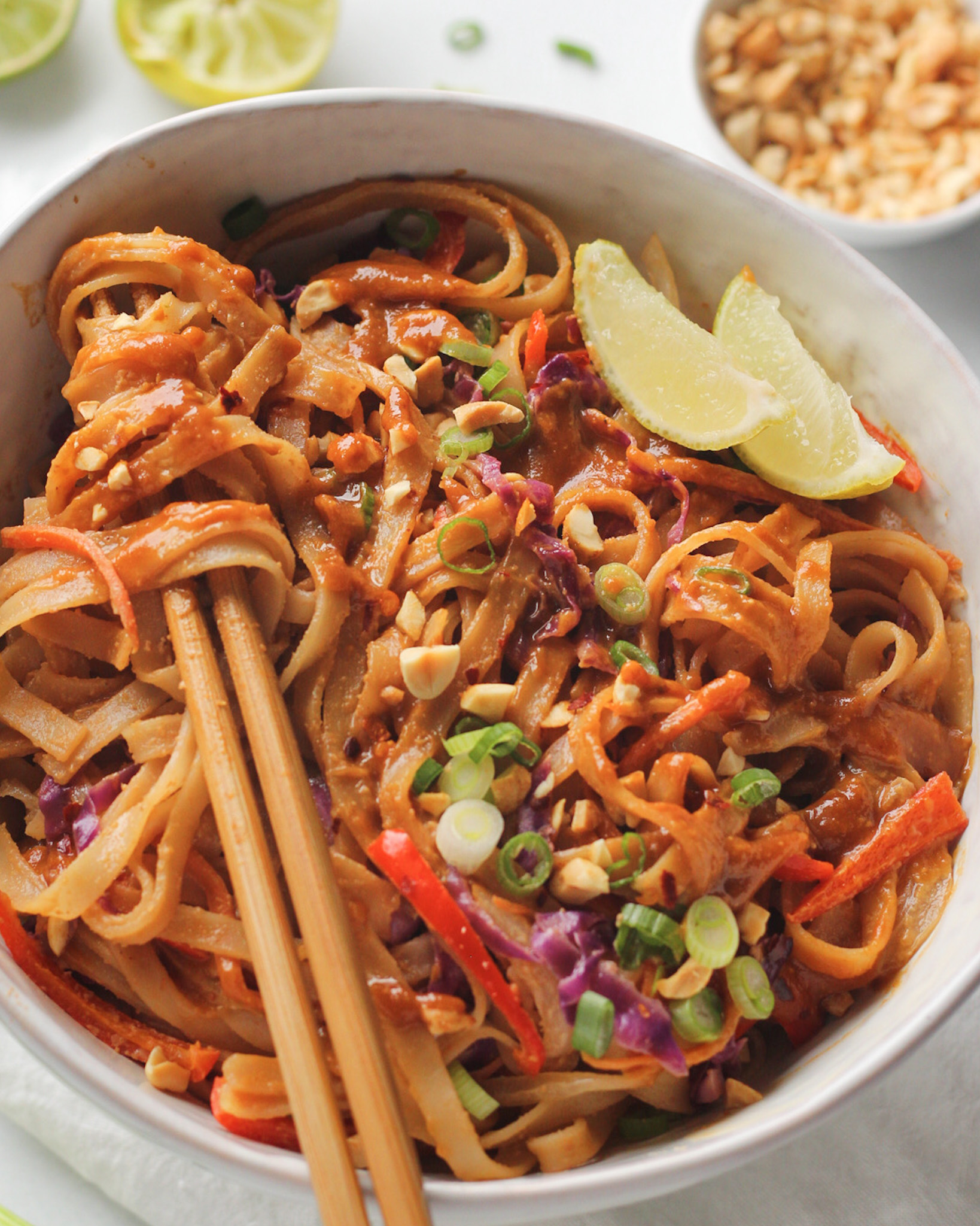 Creamy Pad Thai Noodles It S All Good Vegan
